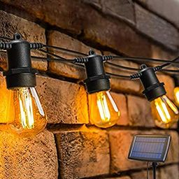 OxyLED LED Solar String Lights Outdoor with 15+1 S14 LED Bulbs, 49FT Hanging Bulb String Lights S...   Amazon (US)