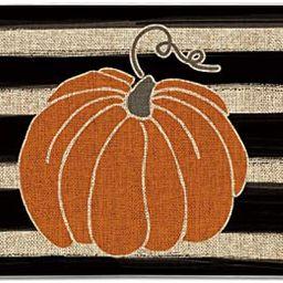 Artoid Mode Watercolor Stripes Pumpkin Decorative Doormat, Fall Seasonal Harvest Thanksgiving Vin...   Amazon (US)