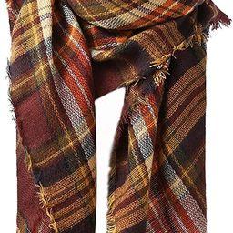 Century Star Women's Fall Winter Scarf Classic Tassel Plaid Scarf Warm Tartan Wrap Shawl | Amazon (US)