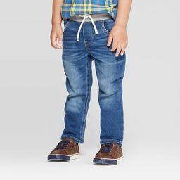 Toddler Boys' Straight Pull-On Skinny Jeans - Cat & Jack Medium Wash 5T, Blue Medium Blue   Target