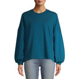 Time and Tru Women's Balloon Sleeve Sweatshirt | Walmart (US)