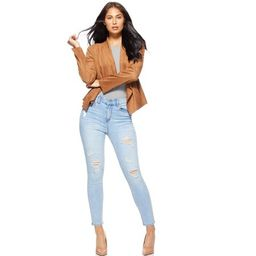 Sofia Jeans by Sofia Vergara Women's Rosa Curvy High Waist Ankle Jeans | Walmart (US)