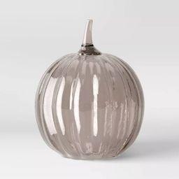 "14"" x 11"" Decorative Seeded Glass Pumpkin Figurine Black - Threshold™ | Target"
