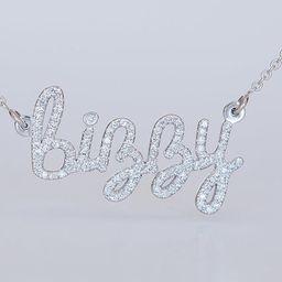 Custom Name Necklace, Custom Diamond Necklace, Personalized Gold Name Necklace, 14K Name Pendant,... | Etsy (US)