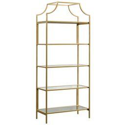 Sauder International Lux 5 Shelf Bookcase in Satin Gold   Walmart (US)