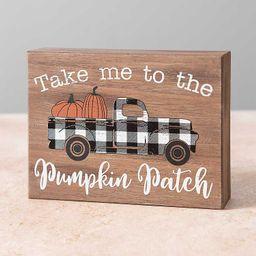 Pumpkin Patch and Truck Word Block | Kirkland's Home