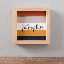 Striped Hello Pumpkin Word Block | Kirkland's Home