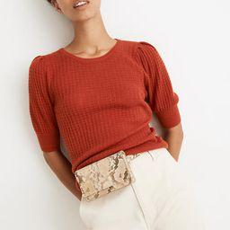 Pointelle Puff-Sleeve Sweater Tee | Madewell
