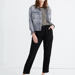 Drapey Track Trousers   Madewell