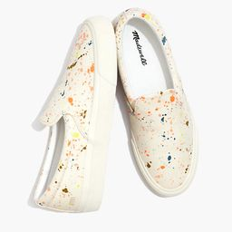 Sidewalk Slip-On Sneakers in Paint Spattered Recycled Canvas | Madewell