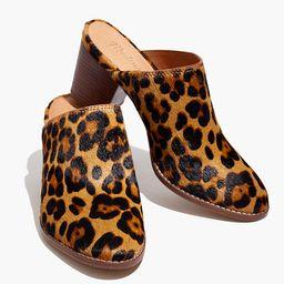 The Harper Mule in Leopard Calf Hair | Madewell