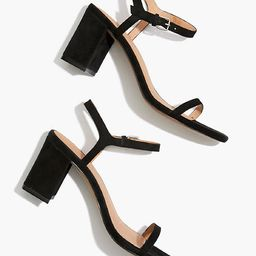 The Hollie Ankle-Strap Sandal in Suede | Madewell