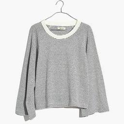 Terry Raglan Sweatshirt in Stripe | Madewell