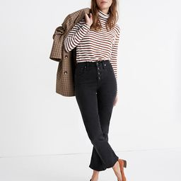 Cali Demi-Boot Jeans in Bellspring Wash: Button-Front Edition   Madewell