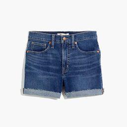 High-Rise Denim Shorts in Cheriton Wash   Madewell