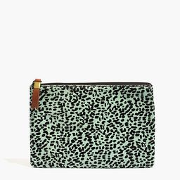 The Leather Pouch Clutch in Printed Calf Hair | Madewell