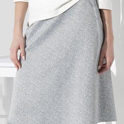 SUNWEAR Women's Career Skirts grey - Gray Abstract A-Line Skirt - Women | Zulily