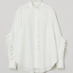 Ruffled Cotton Blouse | H&M (US)
