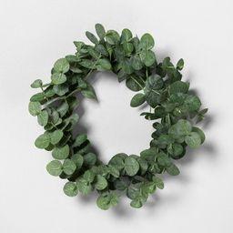 """7.5"""" Mini Faux Eucalyptus Wreath - Hearth & Hand™ with Magnolia   Target"""
