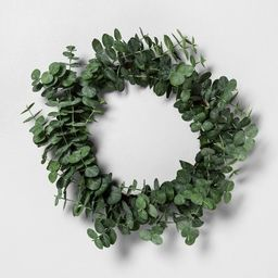"24"" Faux Eucalyptus Wreath - Hearth & Hand™ with Magnolia   Target"