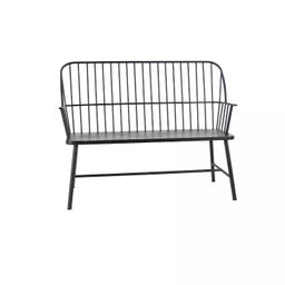 Traditional Outdoor Patio Bench - Black - Olivia & May | Target