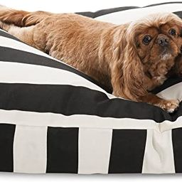 Black Vertical Stripe Medium Rectangle Indoor Outdoor Pet Dog Bed With Removable Washable Cover B... | Amazon (US)