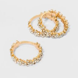 Crystal Floral Bands 3pc - A New Day™ Gold   Target
