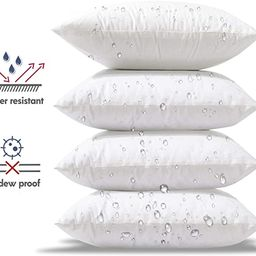 Phantoscope Premium Outdoor Pillow Inserts- Pack of 4Square Form Decorative Throw Pillow Couc... | Amazon (US)