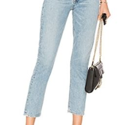 AGOLDE Riley High Rise Straight Crop in Renewal from Revolve.com | Revolve Clothing (Global)