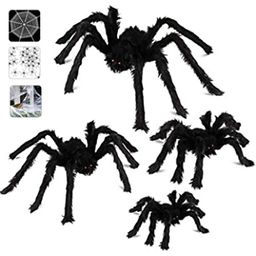 Dreampark Halloween Spider Decorations, 6 Pcs Realistic Hairy Spiders Set, Scary Spider Props for In | Amazon (US)