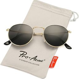 Pro Acme Small Round Metal Polarized Sunglasses for Women Retro Designer Style | Amazon (US)