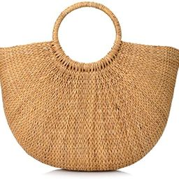 Woven Straw Bags Summer Beach Tote Bag for Women | Amazon (US)