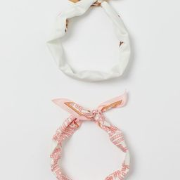 2-pack Scarves/Hairbands | H&M (US)