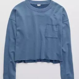 Aerie Sunday Soft Cropped Crew Sweatshirt | American Eagle Outfitters (US & CA)