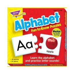 Trend Enterprises Alphabet 2-Piece Puzzles, Assorted Themes, set of 26 | Target