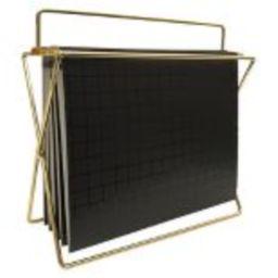 Hanging File Holder with Folders Gold/Black Grid - Project 62™ | Target
