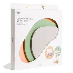 U-Brands 3pk Organic Shaped Double-Sided Cork Tiles | Target