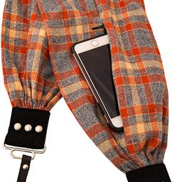 Capturing Couture Scarf Camera Strap with Hidden Pocket, Tahoe Rust - Zipper Pocket Holds Your Ph... | Amazon (US)