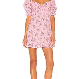 FAITHFULL THE BRAND Sage Mini Dress in Pink Juliette Floral from Revolve.com   Revolve Clothing (Global)