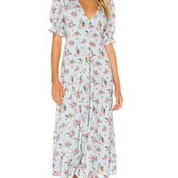 FAITHFULL THE BRAND Maggie Midi Dress in Blue Juliette Floral from Revolve.com   Revolve Clothing (Global)