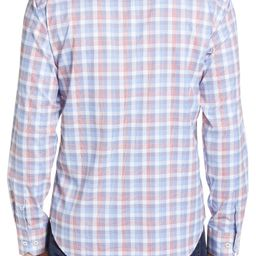 Shaped Fit Plaid Button-Up Performance Shirt | Nordstrom
