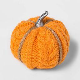 8ct Mini Cable Knit Harvest Pumpkins (with Contrast Jute) - Spritz™   Target
