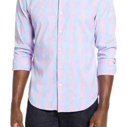 Tech Slim Fit Check Button-Up Shirt | Nordstrom