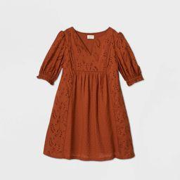 Women's Baoon Ebow Seeve Eyeet Dress - Universa Thread™   Target