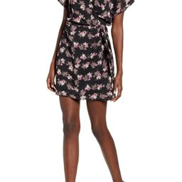 Simone Floral Wrap Front Minidress | Nordstrom