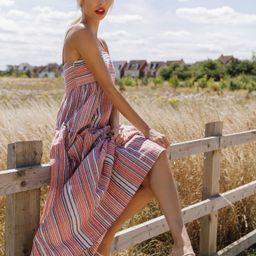 SHEIN Striped Print Cami Dress | SHEIN