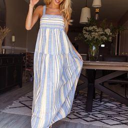 SHEIN Striped Maxi Cami Dress | SHEIN