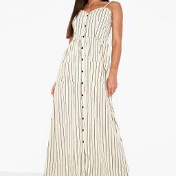 Tall Stripe Button Up Pocket Maxi Dress | Boohoo.com (AU & NZ)