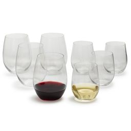 Riedel O Chardonnay and Cabernet Stemless Wine Glasses   Sur La Table