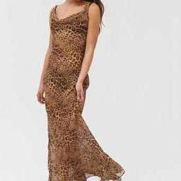 Neon Blonde Leopard Print Slip Dress | Urban Outfitters (US and RoW)